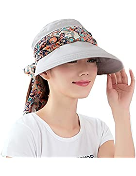 Mujeres Verano Sombrero del Sol Plegable Gorra de Béisbol Femenino Anti-UV