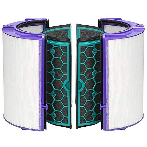 simuke TP04 Filter für Dyson DP04 HP04 Pure Cool Purifier Fan Glas HEPA Filter & Innen Aktivkohlefilter Ersatz für 969048-02 - Ventilator Ersatz