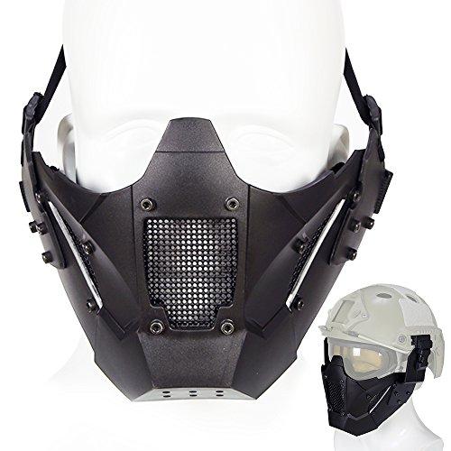 ATAIRSOFT Máscara Protectora Táctica de Malla para Casco de Caza, Paintball, CC,...