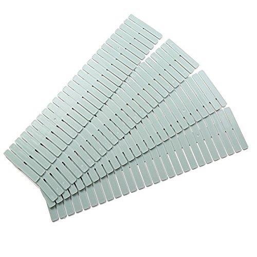 oobest 4 x Schubladen-Organizer, verstellbare Schrank-Gitter, Schubladen-Trennwand, Verdickung, Aufbewahrung, Abstandshalter, Unterteilung für Regale blau