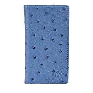 Jo Jo Cover Croc Series Leather Pouch Flip Case For Alcatel Pop 2 (5) Premium Light Blue