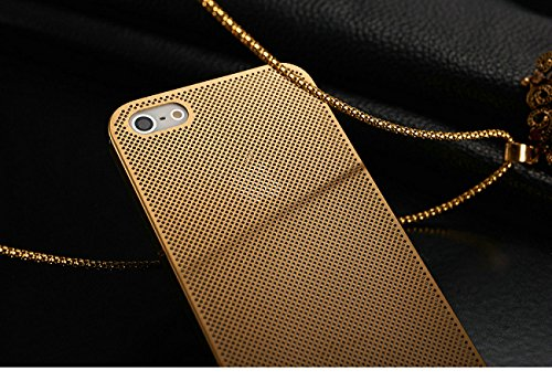 Excelsior Premium Metal/Aluminium Mesh Design Back cover case for iPhone 5s, iPhone SE (Gold)  available at amazon for Rs.499