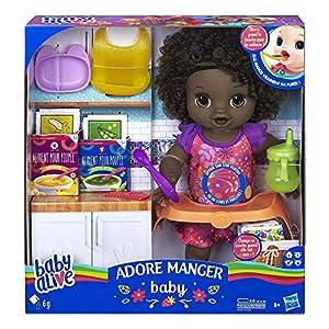 Baby Alive - Adore - Muñeca de Pelo Negro E4893FR0,