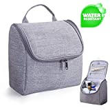 Kulturbeutel zum Aufhängen Kulturtasche zum Aufhängen Kosmetiktasche mit Tragegriff und Haken (Grau)