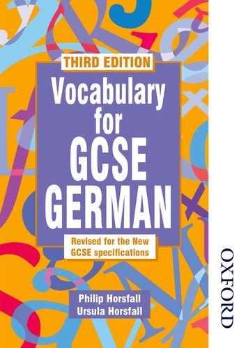 Vocabulary for GCSE German por Philip Horsfall