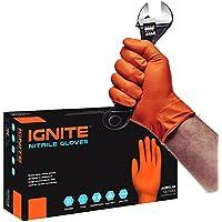 Guantes de nitrilo de alta resistencia IGNITE sin polvo de color naranja