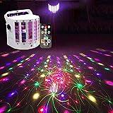 LED PAR Licht Disco PA Lichteffekte Stroboskop DJ Musikgesteuert Scheinwerfer La-Cakus Bühnenbeleuchtung Discokugel Partylicht Ball Light für Partei, Bar, Weihnachten mit Fernbedienung
