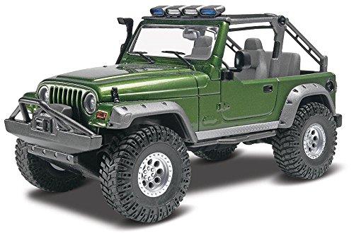 Revell Jeep Wrangler Rubicon detailgetreuer Modellbausatz, Autobausatz 1:25, Kunststoff, durchsichtig
