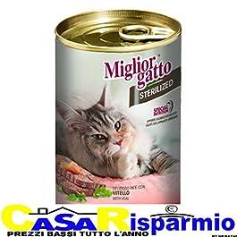 MigliorGatto Sterilized patè vitello    multipack 24 x 400 Grammi