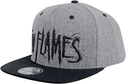 In Flames Logo Cap schwarz/grau
