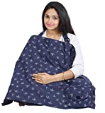 #9: Nursing Cover for Breastfeeding Privacy EXTRA WIDE for Full Coverage - Breathable 100% Cotton , Stylish and High Quality with Pocket
