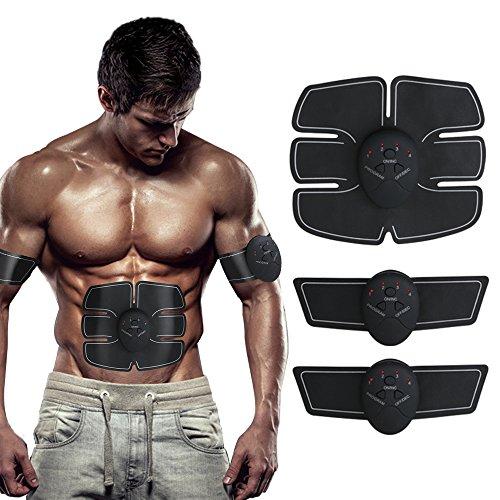 Muscular abdominal cuerpo de tóner tonificación Fitness Training Gear ABS formación ABS Fit peso cinturón de entrenamiento muscular AB máquina de ejercicio, Smart Home aparato de fitness tonificación gimnasio Unisex apoyo para hombres & mujeres