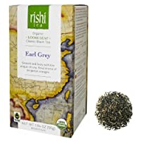Rishi Tea Organic Loose Leaf Black Tea Earl Grey -- 1.94 oz