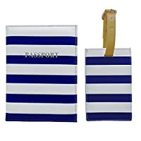 Bombay Duck Passport Cover, 14 cm, Navy/ White