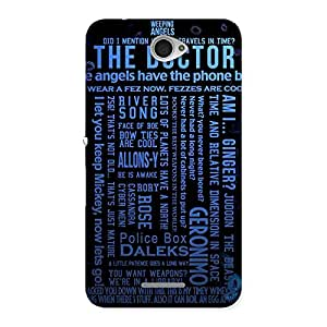 Premium Blue Doc Angel Back Case Cover for Sony Xperia E4