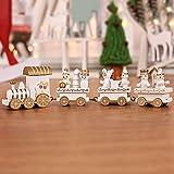 JUNMAONO 1 Stück Weihnachtsschmuck Weihnachten Aus Holz Kleiner Zug Kind Kindergarten Festival Weihnachten Geschenk Dekoration Kinder Weihnachts Dekoration (White)