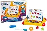 Globo Toys Globo–365072-in-1-kidea Magnettafel mit Filz Spitze und 62Buchstaben und Zahlen