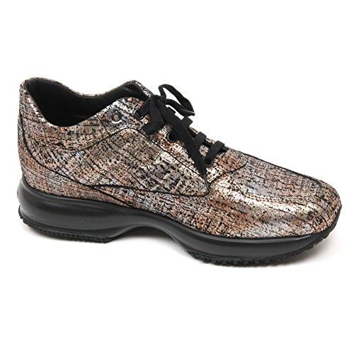 C7838 sneaker donna HOGAN INTERACTIVE scarpa bronzo/nero shoe woman Bronzo/ Nero ...