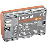 Hähnel 10001509HLX de E6N Extreme Batterie Li-Ion pour Canon 80D/xc10Orange (7,2V, 2000mAh
