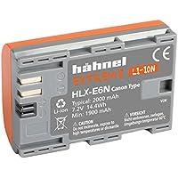 Hähnel 10001509 HLX-E6N Extreme Batterie Li-Ion pour Canon 80D/XC10 (7,2 V, 2000 mAh), orange