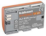 Hähnel 10001509 HLX-E6N Extreme Li-Ionen Akku für Canon 80D/XC10 (7,2 V, 2000 mAh) orange