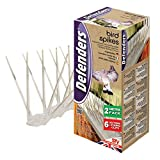 Defenders Bird Spikes (Easy to Install, Plastic Bird Deterrent Fence Spikes, Repels Pigeons, Crows and Seagulls, Lasts up to 15 Years) , 2 m - Pack - 6 x 33 cm