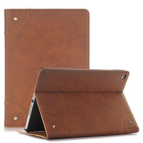 elecfan Samsung Galaxy Tab S 8.4 Hülle, Ultra Dünn Stil Flip PU Leder Hülle Tasche Wasserdicht Anti Kratzer für SM-T700 / SM-T705 Samsung Galaxy Tab S 8.4 (Tab S 8.4, Hellbraun)
