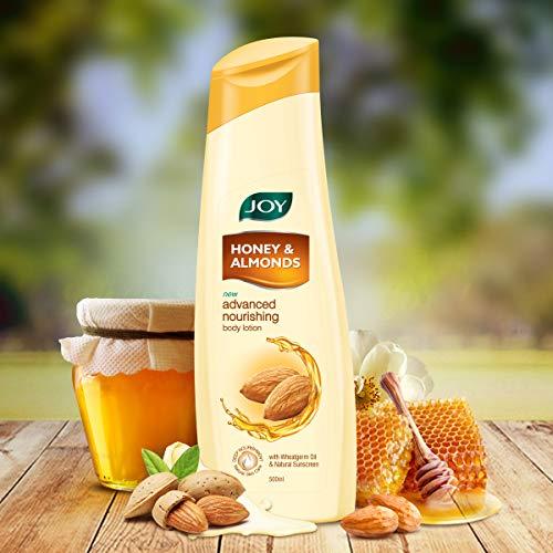 Joy Honey & Almonds Advanced Nourishing Body Lotion 500 ml, For All Skin Type, Ideal For Men & Women