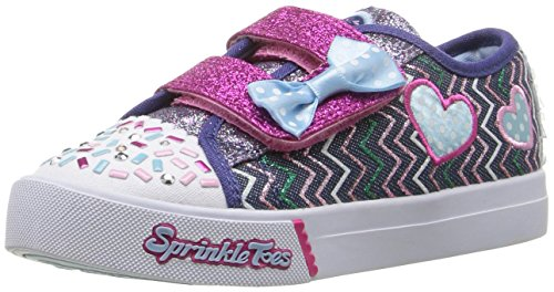Skechers Skippers Doodles, Baskets Basses Fille Bleu (Dmlt Bleu/Multicouleur)