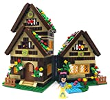 Modbrix Principessa Biancaneve e i 7 Nani con casa dei Nani a più Piani, Gioco di Costruzione 658 Pezzi
