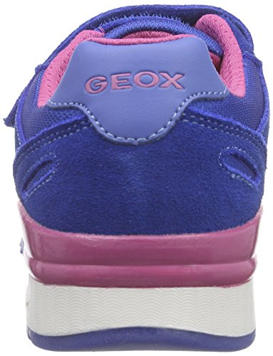 Geox J Maisie Girl B, Baskets Basses Fille Bleu (ROYALC4011)