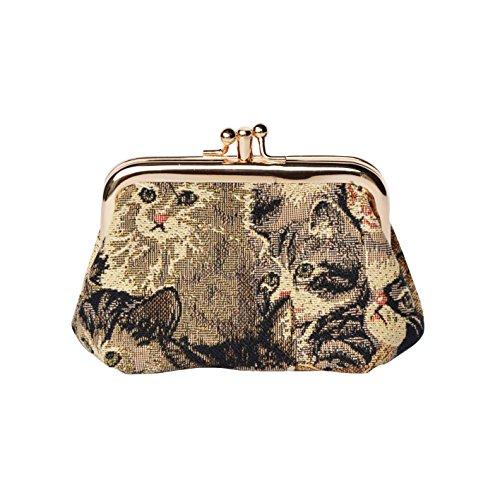 sito affidabile 3fa24 6cf80 Portamonete a scatto donna di Signare in tessuto stile arazzo in 16 disegni  differenti (Gatto)