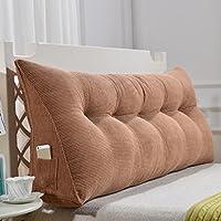MMM- Triángulo Cojín / almohada de poliéster doble cabecera de cama suave cama grande almohada cama respaldo simple y moderno lavable ( Color : Color cafe , Tamaño : 180cm(6 buckle) )