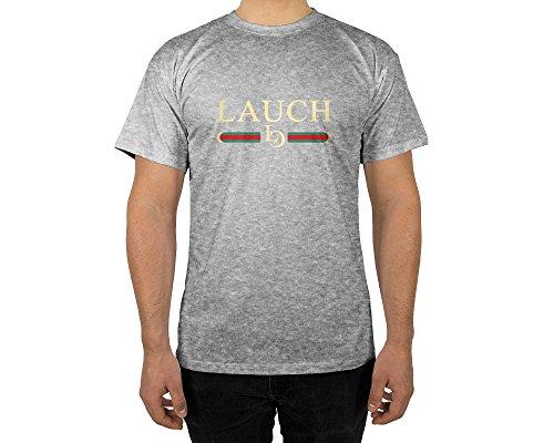 Männer T-Shirt mit Aufdruck in Grau Gr. XL Lauch Gang Member Design Boy Top Jungs Shirt Herren Basic 100% Baumwolle Kurzarm