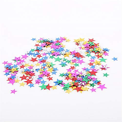 VWH flache Runde Perle Pailletten DIY Zubehör lose Pailletten Handwerk Dekor Paillette handgemachte Accessoires(Star)