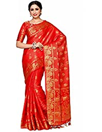 Mimosa By Kupinda Women's Art Silk Saree Kanjivaram Style (Latest Designer Sarees /Party Wear Sarees /New Collection...