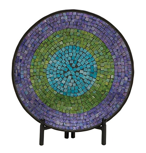 Round Mosaic Pattern Platter with Stand