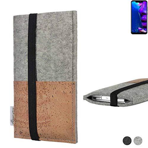flat.design Handy Hülle Sintra für Allview Soul X5 Pro Handytasche Filz Tasche Schutz Kartenfach Case Kork
