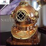 NAUTICAL MART Nautisches Mart Messing Antik Kupfer Tauchen Taucher Helm US Navy Mark V Massivem...