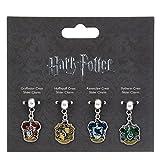 Harry Potter argento Plater charm set 3–Grifondoro/Tassorosso/Corvonero/Serpeverde