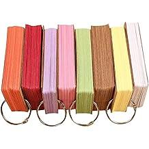 Star ssto 6Set 300Kraft papel cartón anillo fácil Flip Memo arañazos almohadillas color al azar