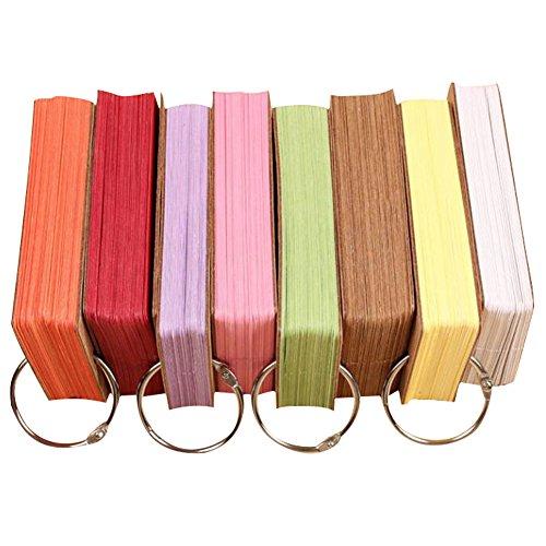 STAR SSTO 6 Set 300 Kraftpapier Binder Ring Easy Flip Memo Kratzer Pads Zufällige Farbe (Kraftpapier Binder)