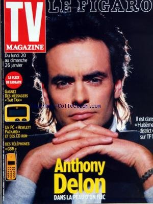 TV MAGAZINE LE FIGARO [No 16306] du 18/01/1997 - ANTHONY DELON
