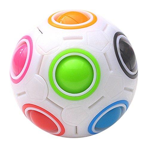 VENMO Luminoso estrés mitigador arco iris Magic Ball cubo de plástico Twist Puzzle juguete para niños/adultos