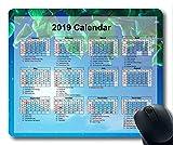 Yanteng Calendrier 2019 avec Blocs de Vacances Importants, Tapis de Souris, Tapis de Souris Gaming Sky Galaxy