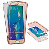 NWNK13® Slim Shockproof 360° Protective Front and Back Full Body Tpu Silicon Gel Case Cover (Samsung Galaxy S7, Rose Gold)
