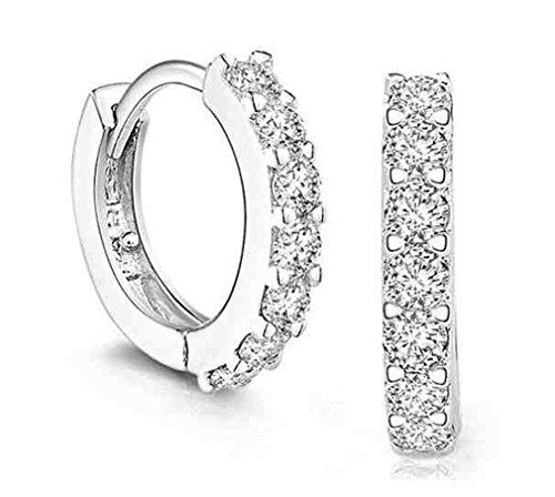 Lierpaar Damen Retro Diamant 925 Sterling Silber Ohrringe Ohrstecker