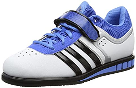 adidas Powerlift2, Multi-sports - Intérieur Unisexe adulte, Blanc (White/Core Black/Bright Royal), 42