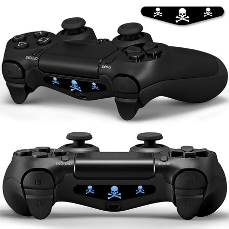 2x LED Sticker 2x Thumb Grips für PlayStation 4 Controller Light Bar Decal Skin Sticker - Bat Fledermaus Shadow Man