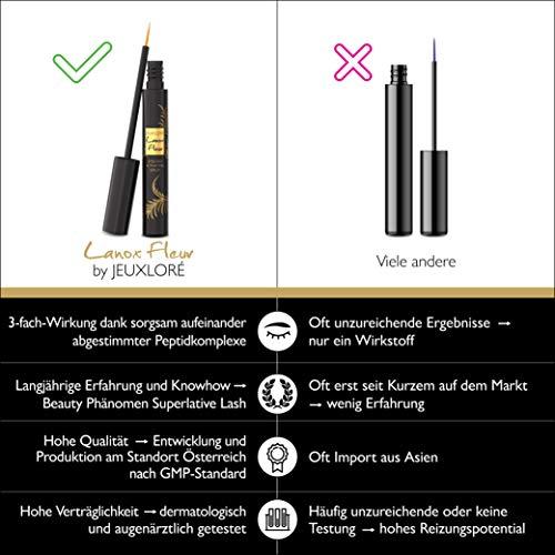 Lanox Fleur Premium Wimpernserum von JEUXLORÉ - 4 ml Eyelash Activating Serum für schöne, dichte Wimpern und Augenbrauen - hochwertig hergestellt in Österreich